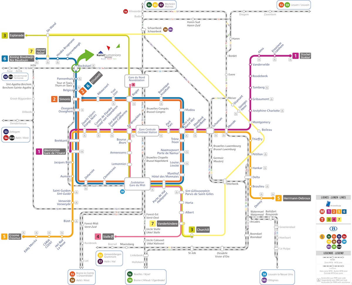 Metro plan voor Kunsthumaniora Brussel